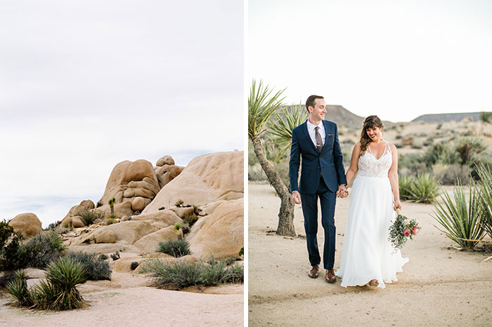 Joshua Tree Wedding Ben And Katherine At Pipes Canyon Sam Nichols